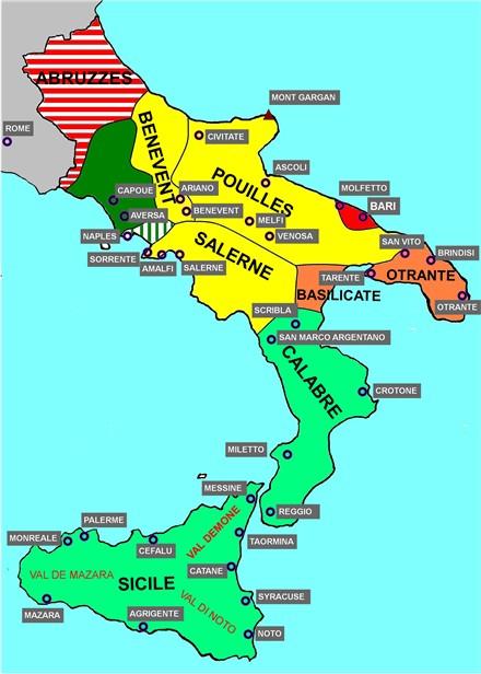 Info • italie sud • Voyages - Cartes